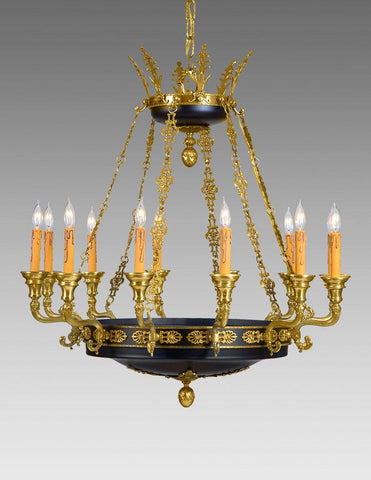 Brass And Metal Twelve Light Chandelier LCFI-87