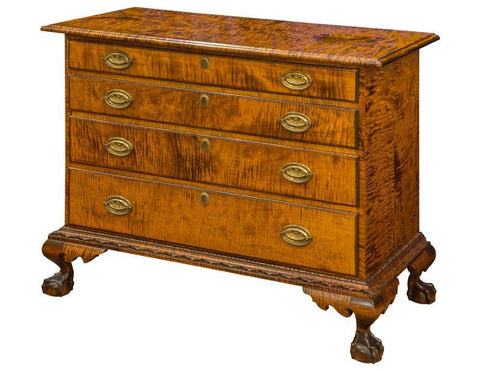Chippendale Style Chest With Ogee Top Edge FCCC-34