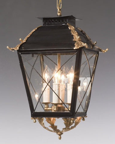 Criss Cross Lantern With Applied Leaves LL-23