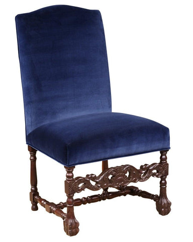 William and Mary style carved front stretcher side chair FSFI-44