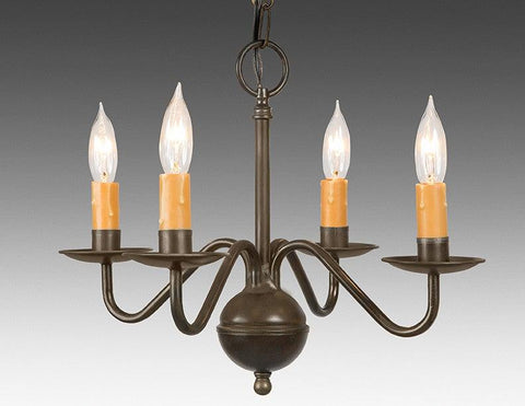 Metal Chippendale Style Four Light Chandelier LCHSC-13