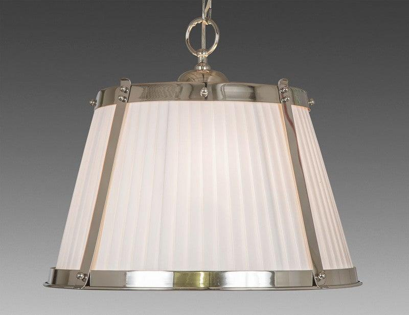 Reproduction chandeliers federal style chandeliers the federalist brass and fabric shade three light chandelier lcfi 22b aloadofball Image collections