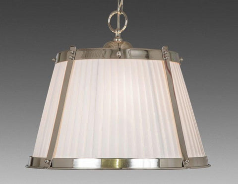Brass And Fabric Shade Three Light Chandelier LCFI-22b