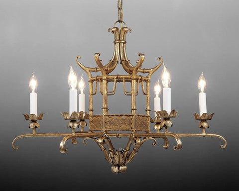Metal chinoiserie design chandelier LCFI-27