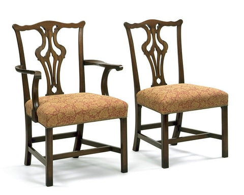 Chippendale style pierced splat back arm chair and side chair FSFI-26