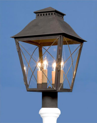 Criss Cross Design Post Mount Lantern LEPM-3