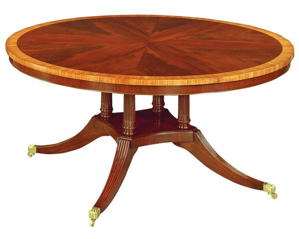 Federal Style Bird Cage Pedestal Round Dining Table Fdtf