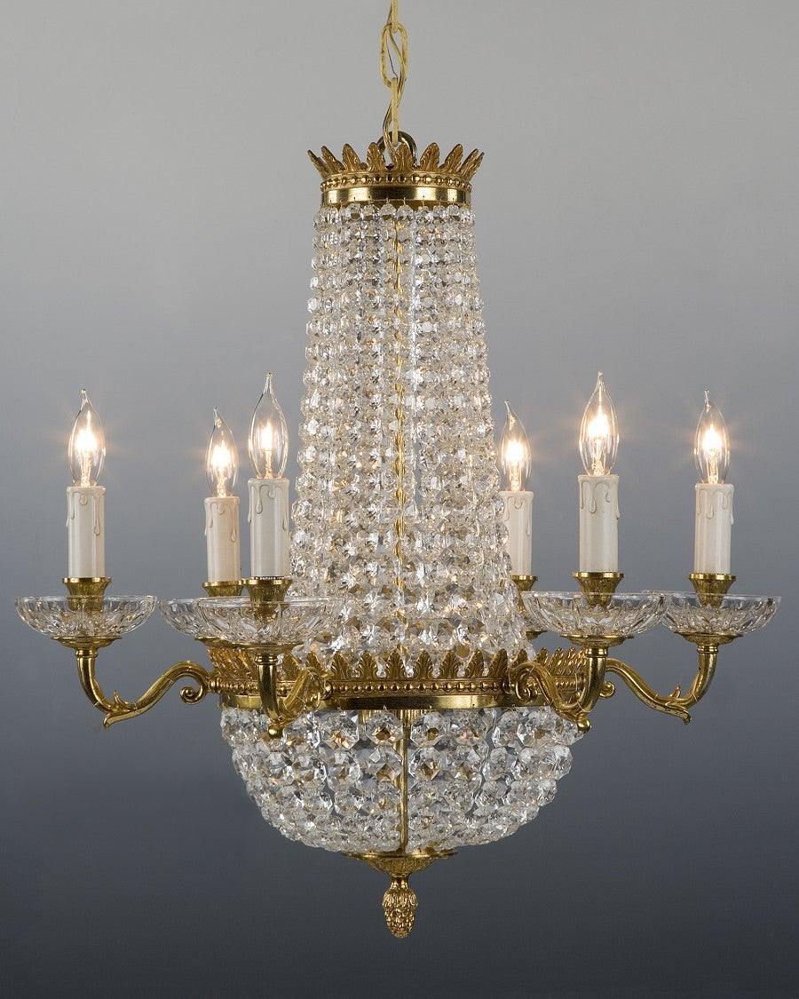 Crystal and cast brass chandelier lcc 4 federalist crystal and cast brass chandelier lcc 4 aloadofball