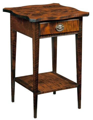 Side table with two drawers and bottom shelf fosts 48a for Table th bottom