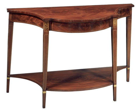 Console table with shaped top and bottom shelf FOC-3