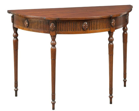 Demilune table with Shaped top FOD-8