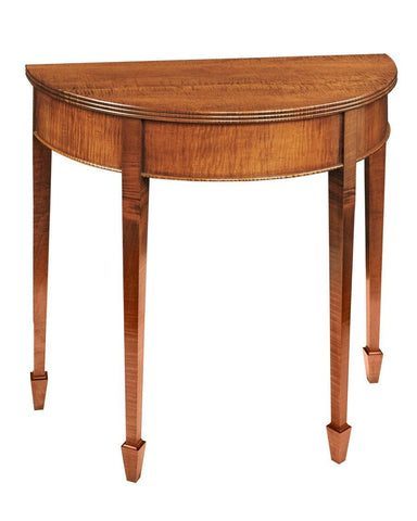 Demilune table with reeded edge FOD-10