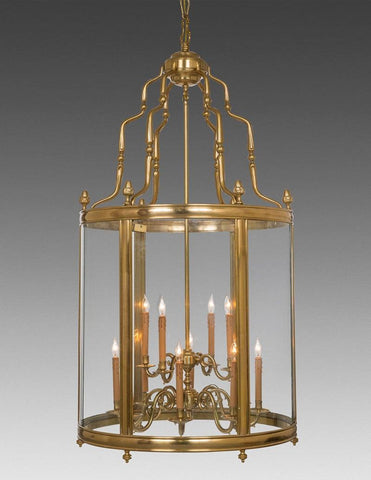 "Two Tier Twelve Light Hanging 61"" H Lantern LL-97"