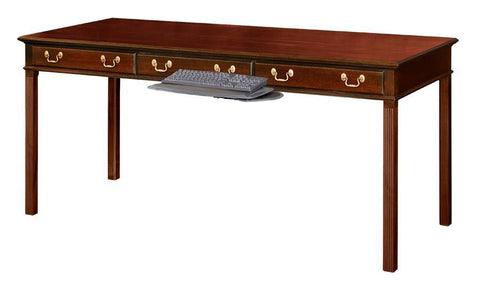 Writing Table With Two Working Drawers And Optional Faux Center Drawer FDS-20b