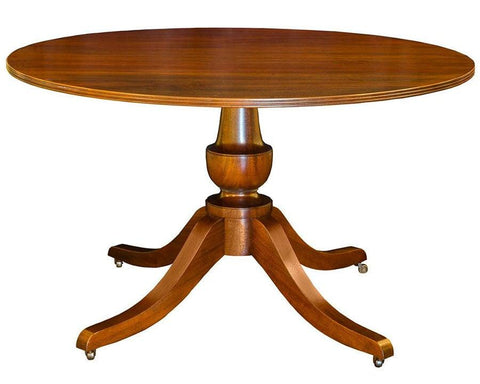 Federal style single vase design pedestal dining table FDTF-43