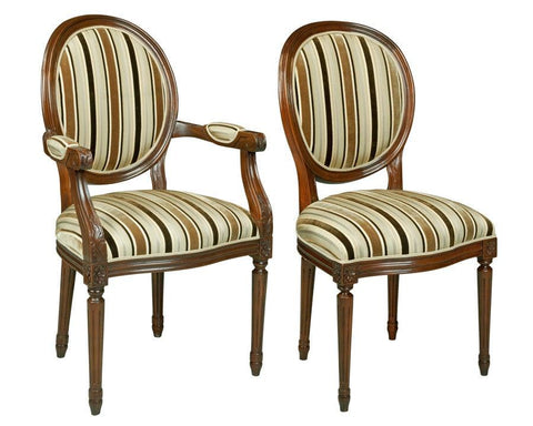 French Louis XVI style chaise upholstered chairs FSFI-39b