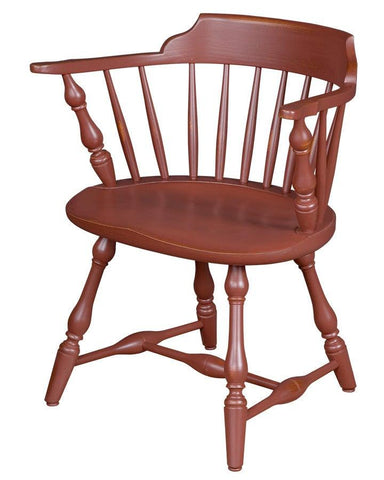 Low back arm chair with turned vase leg FSW-22