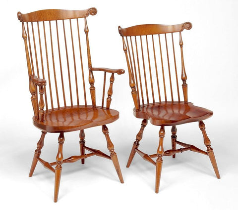Bow Back Side Chair (pictured To The Right) FSW 10