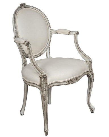 French Louis XV style chaise upholstered chair FSFI-35
