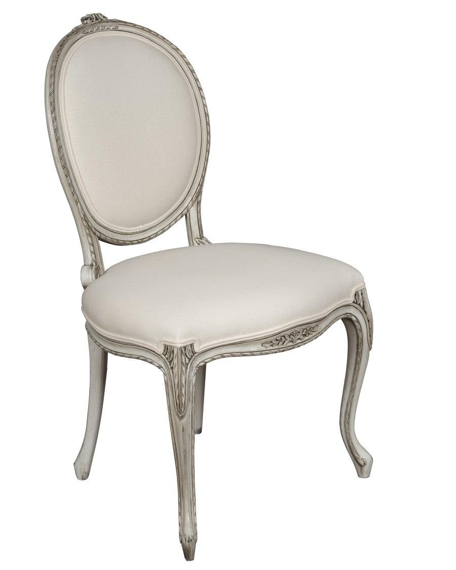 French Louis XV Style Chaise Upholstered Chair FSFI 36