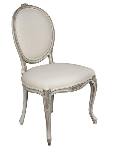 French Louis XV style chaise upholstered chair FSFI-36