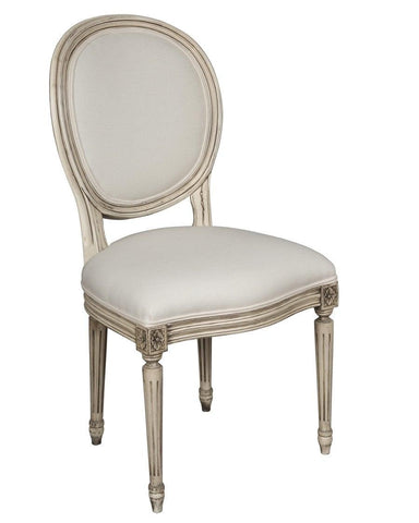 French Louis XVI style chaise upholstered chair FSFI-40
