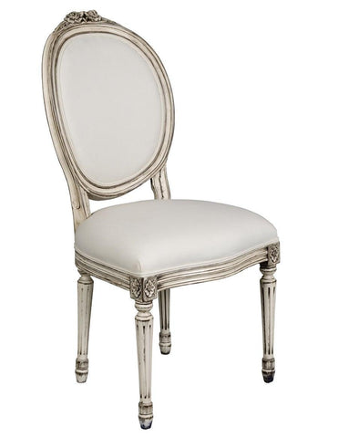 French Louis XVI style chaise upholstered chair FSFI-38