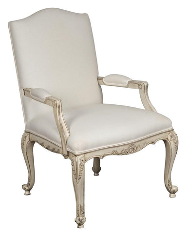 French Louis XV style Fanteuil upholstered arm chair FSFI-34