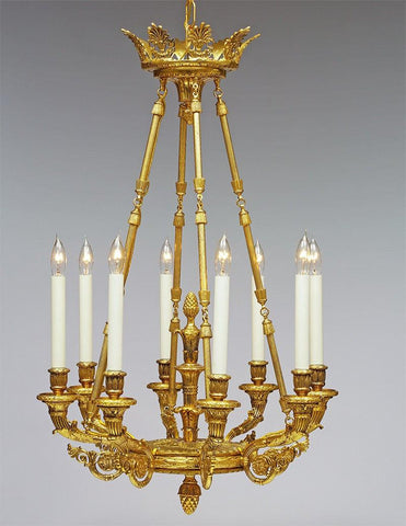 Brass Regency Style Eight Light Chandelier LCFI-84