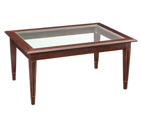 Coffee table with tempered beveled glass FOCTT-16