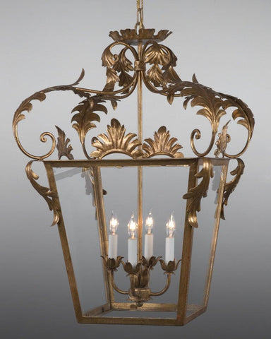 Crowned Leaf Design Lantern LL-27A