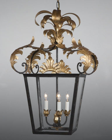 "Leaf Design 31"" High Lantern LL-26A"