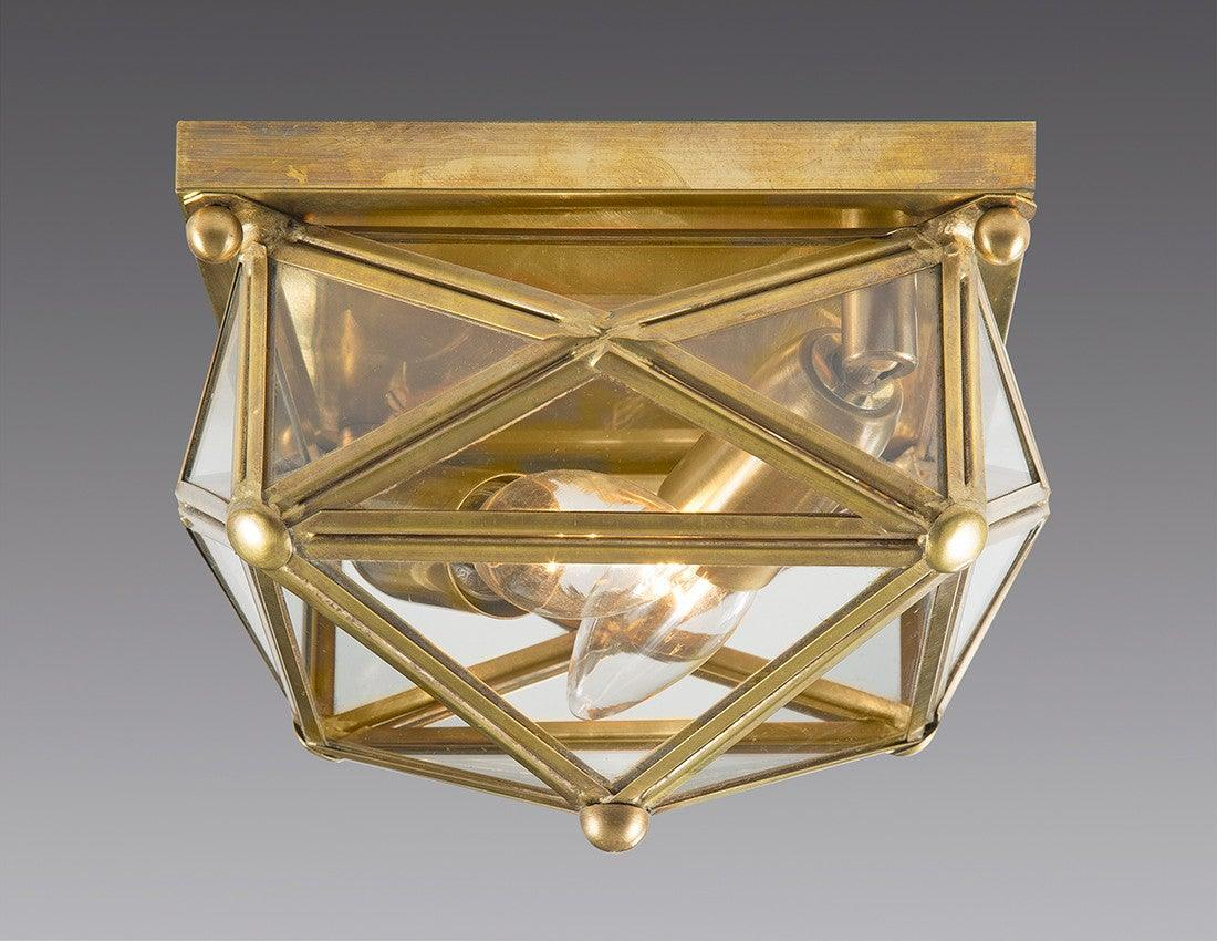star design lighting. brass and glass square star design ceiling mount lantern lcm34 lighting s