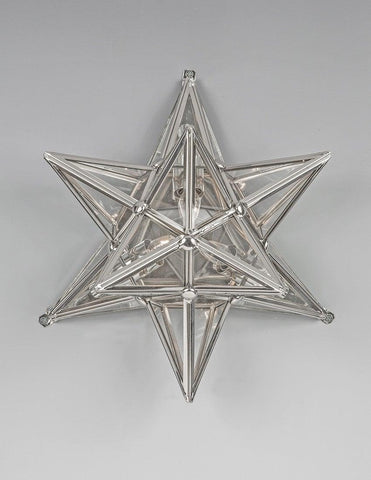 Brass And Glass Star Design Sconce LSFI-137