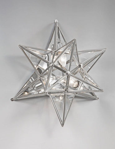 Brass And Glass Star Design Sconce LSFI-135