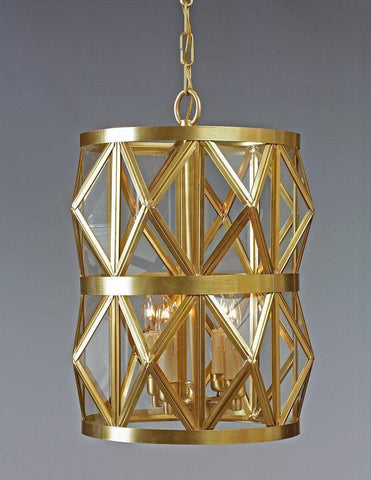 Brass Star Rhomboid Design Two Tier Chandelier LCFI-88