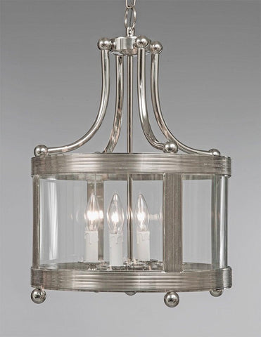 Brass Ribbed Shortened Lantern With Ball Feet LL-115