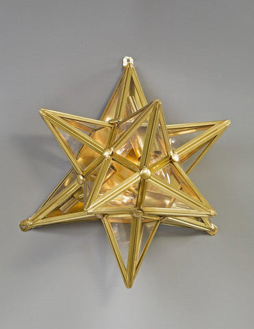 Brass And Glass Star Design Sconce LSFI-138