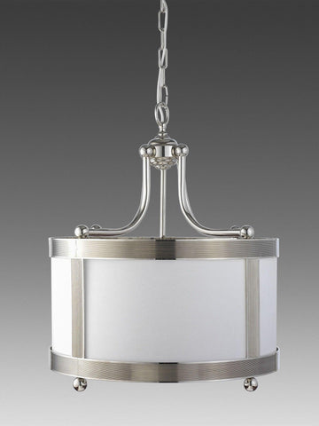 Brass Ribbed Shortened Lantern With Ball Feet And Frosted Glass LL-116b
