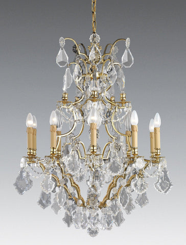 Reproduction crystal chandeliers the federalist crystal and cast brass ten light chandelier lcc 41 aloadofball Image collections