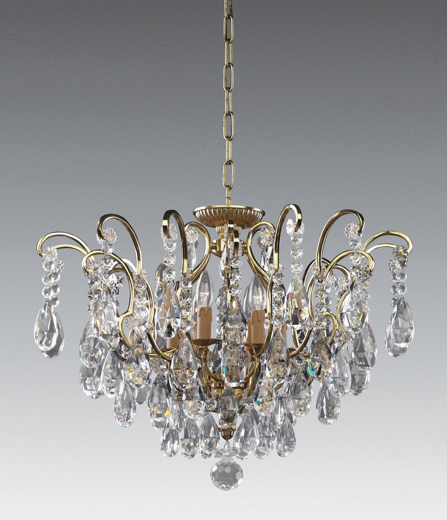 Crystal and cast brass six light chandelier lcc 42 federalist crystal and cast brass six light chandelier lcc 42 aloadofball Choice Image
