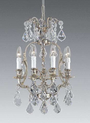 Crystal and cast brass eight light chandelier LCC-43