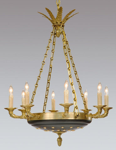 Regency Style Chandelier With Brass Stars LCFI-627