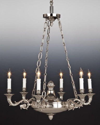 Cast Brass Federal Style Chandelier LCFI-7B