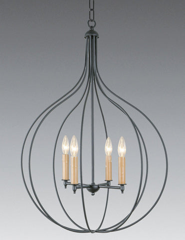 Brass And Metal Four Light Chandelier LCHSC-26a