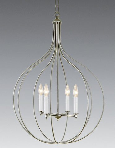 Brass And Metal Four Light Chandelier LCHSC-26b