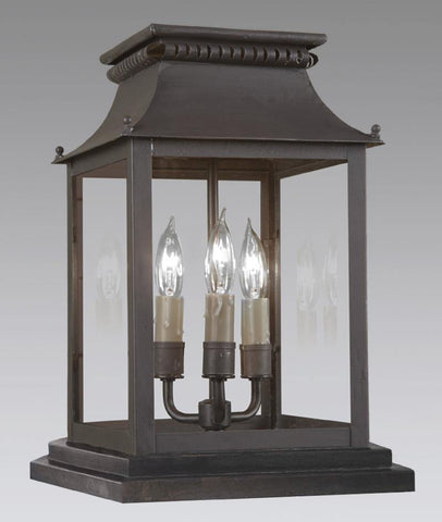 Pier Mounted Cut Out Design Lantern LECM-29