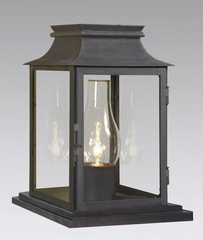 Pier Mounted Station Lantern with Glass Shade LECM-3