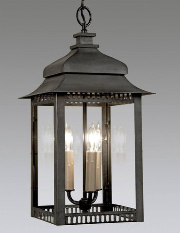 Double Tiered Top Lantern With Trim Cutouts LEH-75A