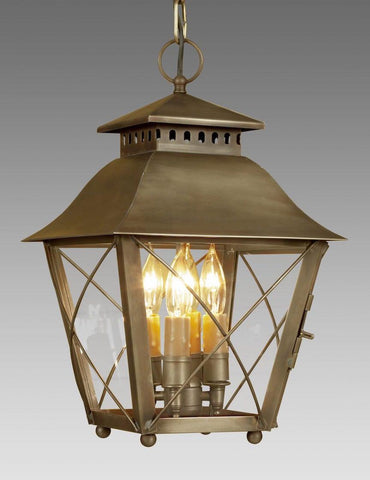 Criss Cross Design And Ball Feet Hanging Lantern LEH-30